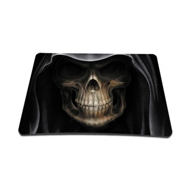 Standard 7 x 9 Inch Mouse Pad - Hooded Dark Lord Skull