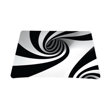 Standard 7 x 9 Inch Mouse Pad - Tornado White and Black Swirl