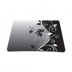 Standard 7 x 9 Inch Mouse Pad - Gray Black Swirl Floral