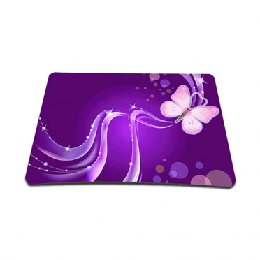 Standard 7 x 9 Inch Mouse Pad - Purple Butterfly Floral