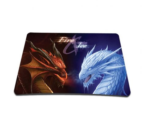 Standard 7 x 9 Inch Mouse Pad - Fire & Ice Dragons
