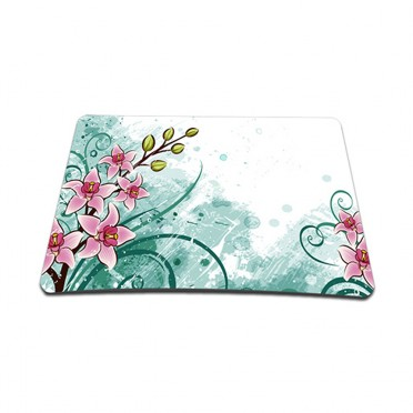 Standard 7 x 9 Inch Mouse Pad - Pink Flower Floral