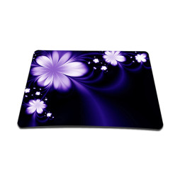 Standard 7 x 9 Inch Mouse Pad - Purple Flower Floral