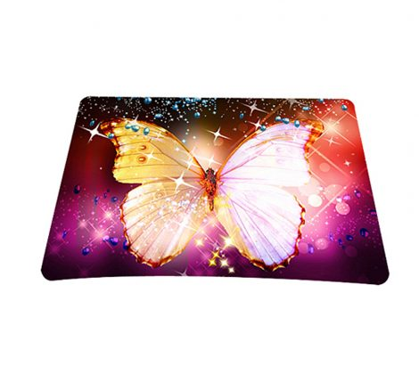 Standard 7 x 9 Inch Mouse Pad - Sparkling Butterfly