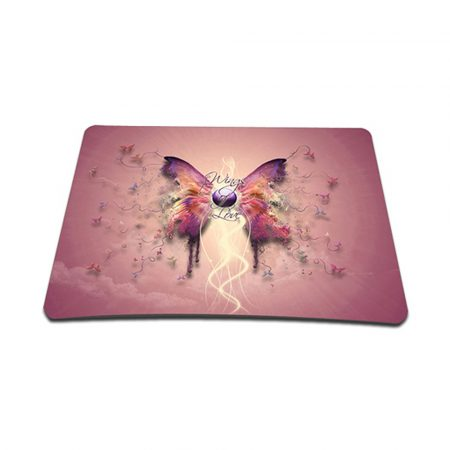 Standard 7 x 9 Inch Mouse Pad - Pink Butterfly Floral