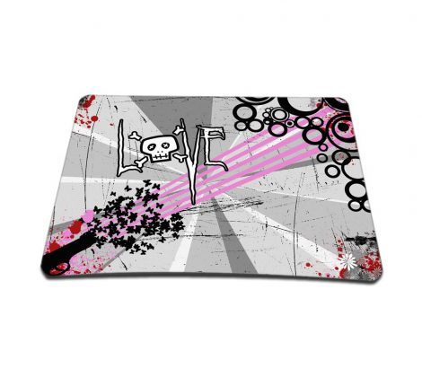 Standard 7 x 9 Inch Mouse Pad – Love Skull Floral