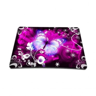 Standard 7 x 9 Inch Mouse Pad – Purple Butterfly Floral