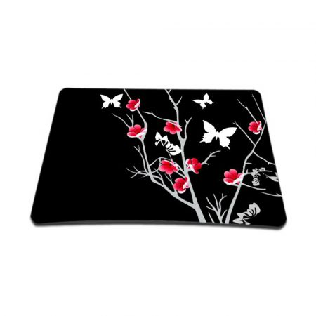 Standard 7 x 9 Inch Mouse Pad – Pink Gray Floral