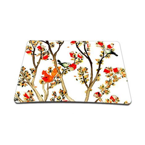 Standard 7 x 9 Inch Mouse Pad – Birds and Animal on Branches Love