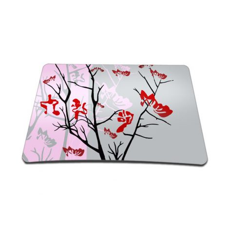 Standard 7 x 9 Inch Mouse Pad – Pink Gray