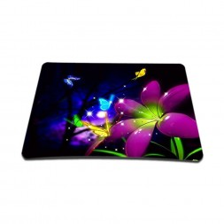 Standard 7 x 9 Inch Mouse Pad – Purple Blue Floral