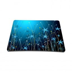Standard 7 x 9 Inch Mouse Pad – Blue Floral