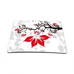 Standard 7 x 9 Inch Mouse Pad – White Grey Branches Floral