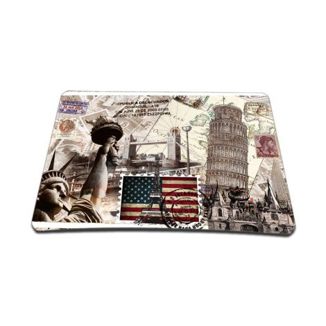 Standard 7 x 9 Inch Mouse Pad – World Landmarks