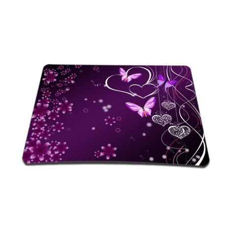 Standard 7 x 9 Inch Mouse Pad – Purple Heart Butterfly