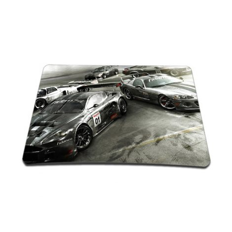 Notebook / Netbook Sleeve Carrying Case w/ Handle & Adjustable Shoulder Strap & Matching Skin & Mouse Pad – Race Cars