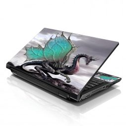 Notebook / Netbook Sleeve Carrying Case w/ Handle & Adjustable Shoulder Strap & Matching Skin & Mouse Pad – Flying Dragon