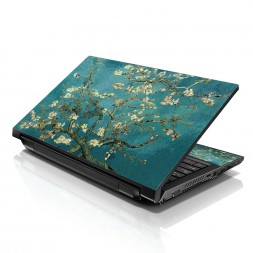Notebook / Netbook Sleeve Carrying Case w/ Handle & Adjustable Shoulder Strap & Matching Skin & Mouse Pad – Almond Trees