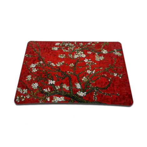 Notebook / Netbook Sleeve Carrying Case w/ Handle & Adjustable Shoulder Strap & Matching Skin & Mouse Pad – Red Almond Trees