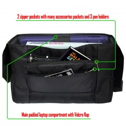 Laptop Padded Compartment Shoulder Messenger Bag Carrying Case - Earth and Moon Eclipse