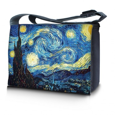 Laptop Padded Compartment Shoulder Messenger Bag Carrying Case - Starry Night