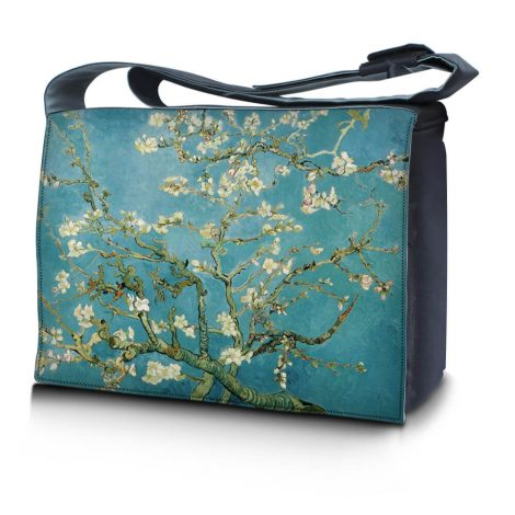 Laptop Padded Compartment Shoulder Messenger Bag Carrying Case - Almond Trees