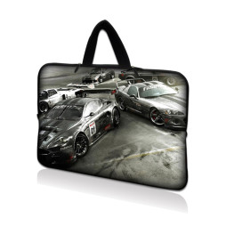 Netbook Sleeve Carrying Case w/ Hidden Handle - Race Cars