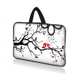 Netbook Sleeve Carrying Case w/ Hidden Handle - Love Birds