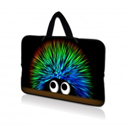 Netbook Sleeve Carrying Case w/ Hidden Handle - Hedgehog