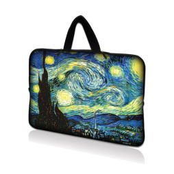 Netbook Sleeve Carrying Case w/ Hidden Handle - Starry Night