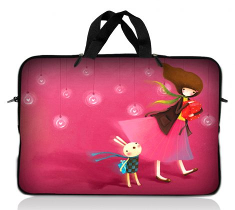 Notebook / Netbook Sleeve Carrying Case w/ Handle – Girl Birthday Party