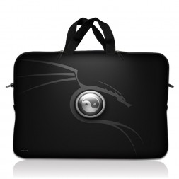 Notebook / Netbook Sleeve Carrying Case w/ Handle – Ying Yang Black