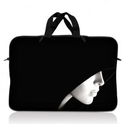 Notebook / Netbook Sleeve Carrying Case w/ Handle – Lady in Hood