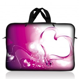 Notebook / Netbook Sleeve Carrying Case w/ Handle – Pink Heart