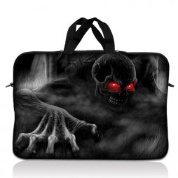 Notebook / Netbook Sleeve Carrying Case w/ Handle – Red Eye Dark Ghost Zombie Skull