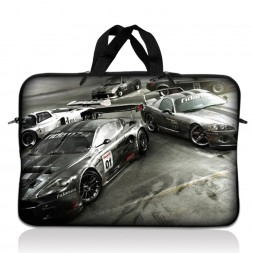 Notebook / Netbook Sleeve Carrying Case w/ Handle – Race Cars