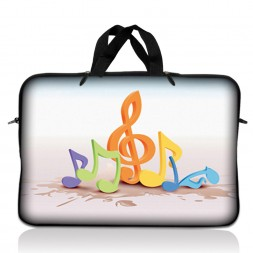 Notebook / Netbook Sleeve Carrying Case w/ Handle – Musical Notes