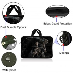 Notebook / Netbook Sleeve Carrying Case w/ Handle – Reaper Skull