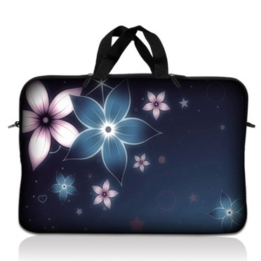 Notebook / Netbook Sleeve Carrying Case w/ Handle – Plumeria Flower Floral