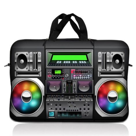 Notebook / Netbook Sleeve Carrying Case w/ Handle – Boom Box Musicy