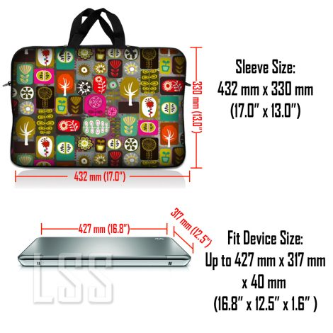 Notebook / Netbook Sleeve Carrying Case w/ Handle & Shoulder Strap – Symbols