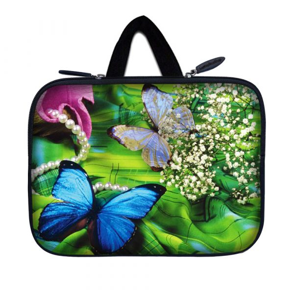 Tablet Sleeve Carrying Case w/ Hidden Handle – Butterfly Floral
