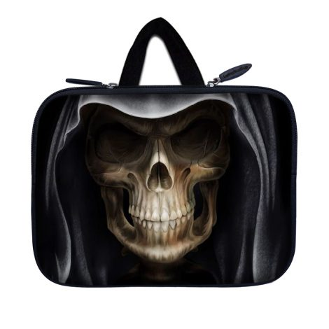 Tablet Sleeve Carrying Case w/ Hidden Handle – Hooded Dark Lord Skull