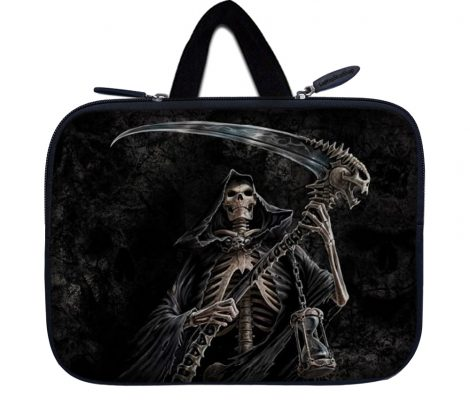 Tablet Sleeve Carrying Case w/ Hidden Handle – Reaper Skull