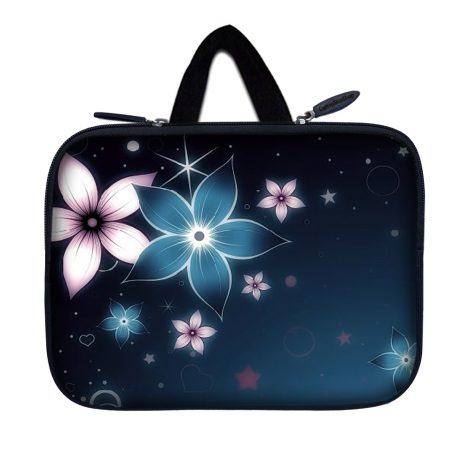 Tablet Sleeve Carrying Case w/ Hidden Handle – Plumeria Flower Floral