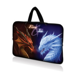 Tablet Sleeve Carrying Case w/ Hidden Handle – Fire & Ice Dragons