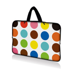 Tablet Sleeve Carrying Case w/ Hidden Handle – Polka Dots