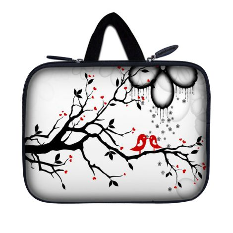 Tablet Sleeve Carrying Case w/ Hidden Handle – Love Birds