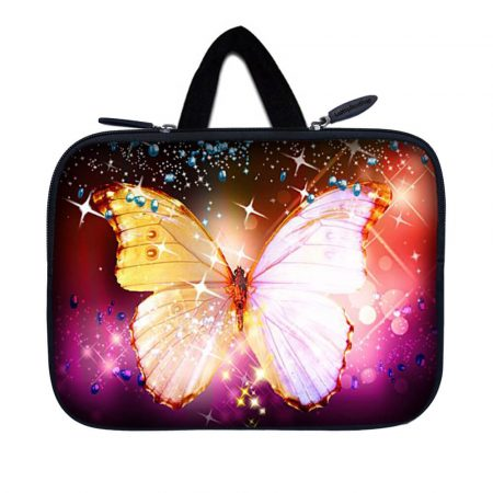 Tablet Sleeve Carrying Case w/ Hidden Handle – Sparkling Butterfly