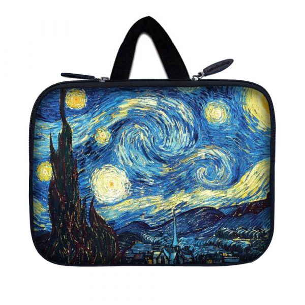 Tablet Sleeve Carrying Case w/ Hidden Handle – Starry Night